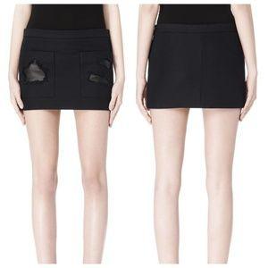 Alexander Wang Cropped Skirt Distressed Detail